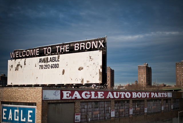 Welcome to the Bronx sign in Point Morris. Photo: Chris Arnade.