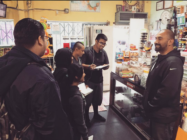 The National Health Foundation's Health Academy has worked with Carlos, owner of La Favorita market, to bring in healthy food options. Today, it is one of the very few area stores to offer fresh fruits and vegetables. Photo: National Health Foundation
