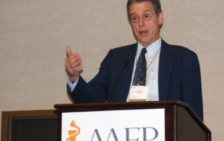Lloyd Michener, M.D., principal investigator for the Practical Playbook and chair of family and community medicine at Duke University, speaks during the 2016 AAFP State Legislative Conference about population health initiatives that improved patient outcomes.